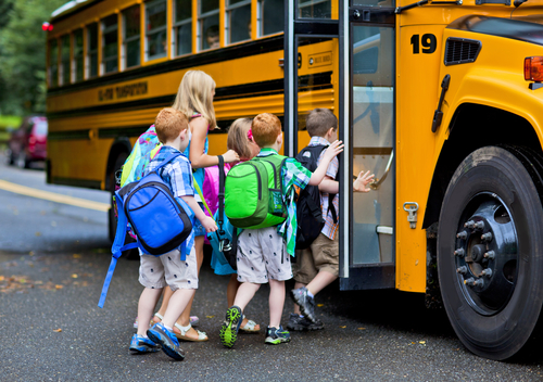 classroom bugs saskatoon elementary school kids getting on a school bus