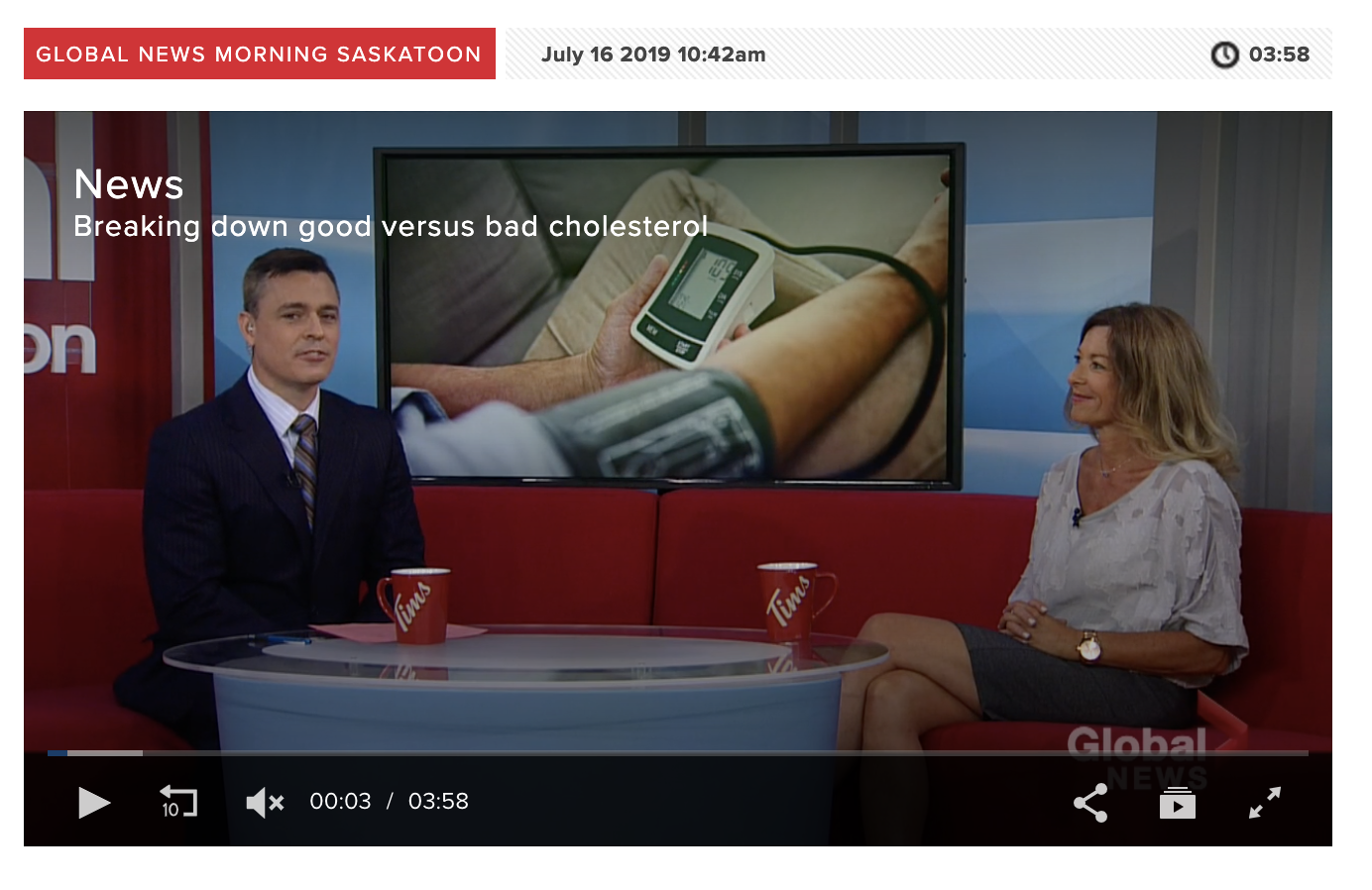Cholesterol Video Global TV Dr Jacqui Fleury