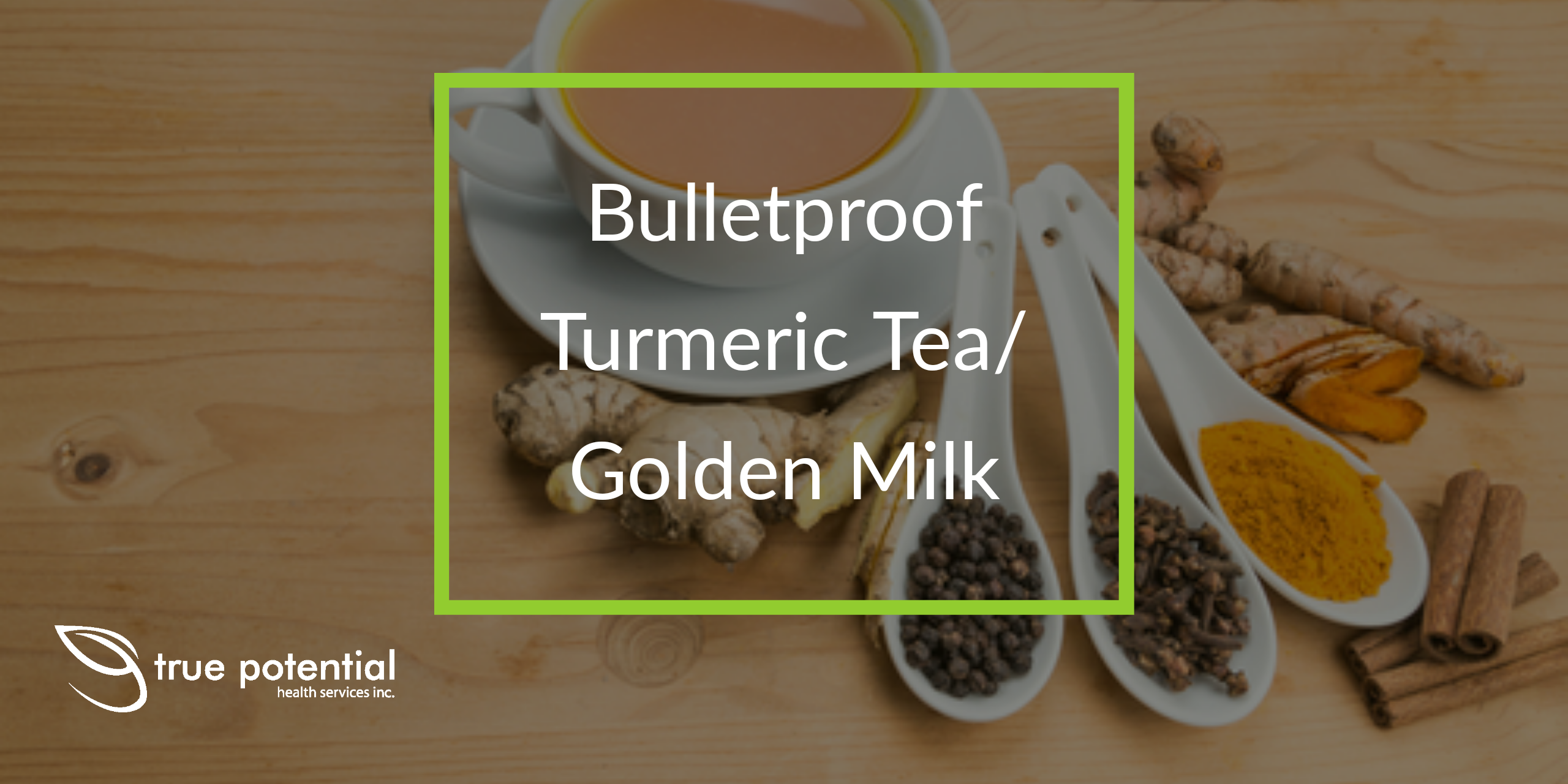 bulletproof turmeric tea/ golden milk