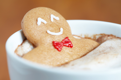 happy holidays saskatoon gingerbread man in hot cocoa hot tub