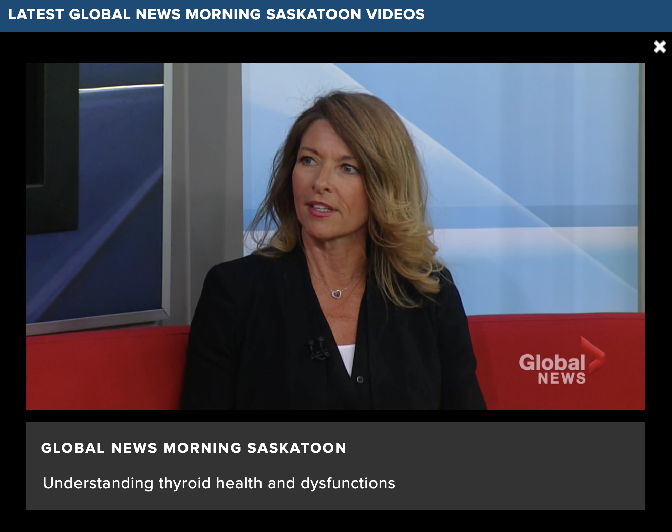 Dr Fleury ND discussing Thyroid Health Global TV Healthy Living