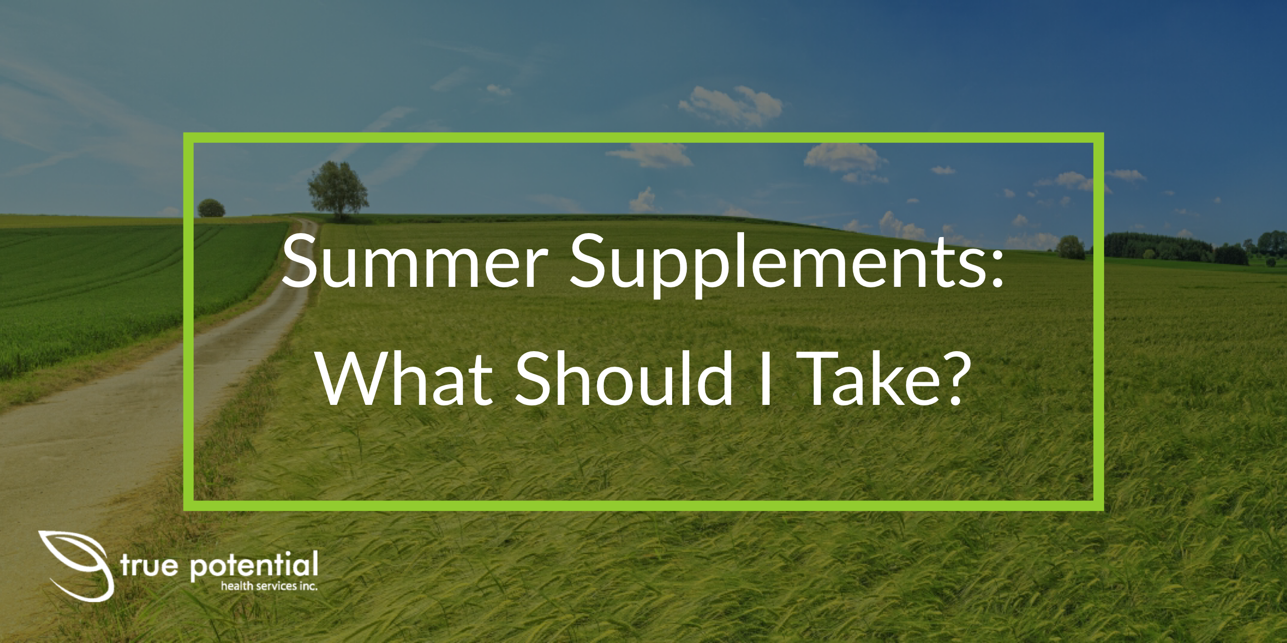 supplements to take in the summer